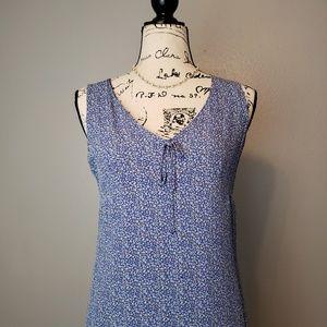 Gap 2000s Vintage Blue Floral Slip Dress sz S